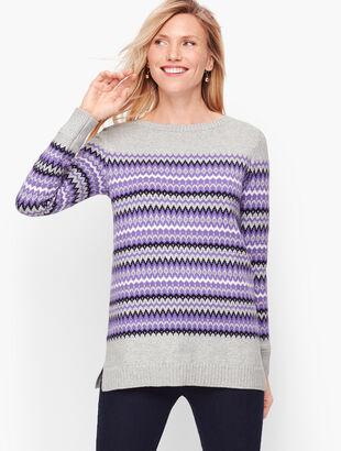 Zig Zag Fair Isle Sweater