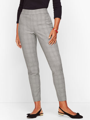 Talbots Essex Ankle Pant - Curvy Fit - Glen Plaid