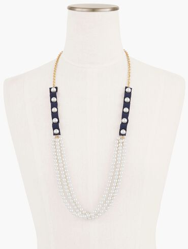Mixed Pearl Long Necklace