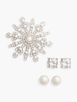 Brooch & Earrings Gift Set