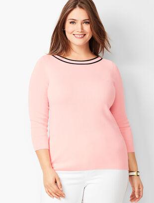 Classic Bateau-Neck Sweater - Tipped