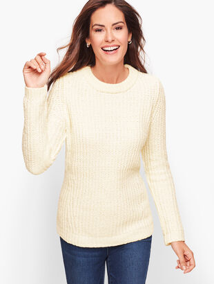 Mix Stitch Chenille Sweater