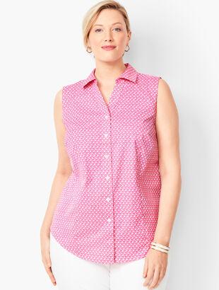 Sleeveless Perfect Shirt - Pinwheel