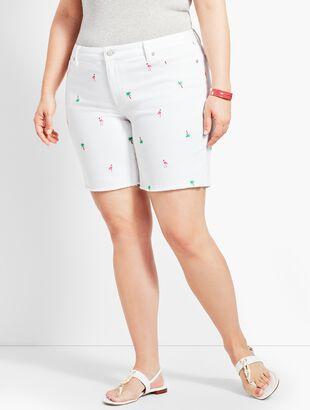 "7"" Flamingo Denim Short"