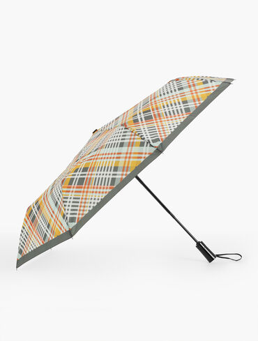 Printed Umbrella - Bias Plaid