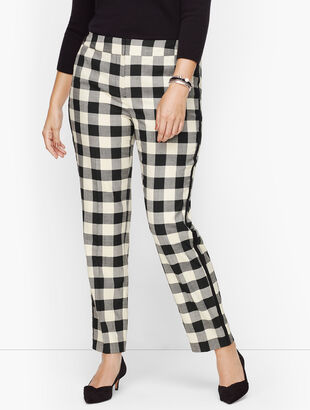 Plus Size Exclusive Talbots Hampshire Ankle Pants - Buffalo Check