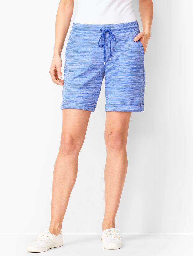 Striation Roll-Cuff Shorts