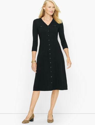 Merino Button Front Dress
