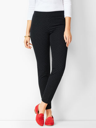 Bi-Stretch Pull-On Skinny Ankle Pants - Curvy Fit - Dot