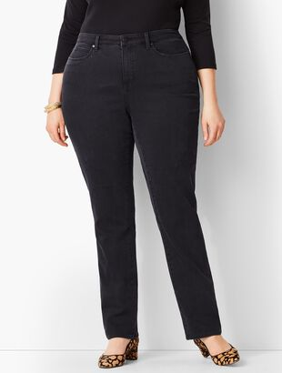 Plus Size Exclusive High-Waist Straight-Leg Jeans - Curvy Fit/Galaxy Wash