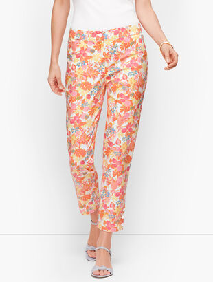 Perfect Crop Pants - Fruit & Flowers