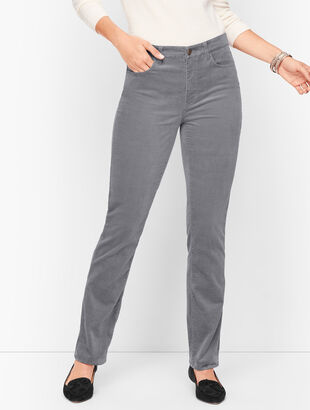 Velveteen Straight Leg Pants - Curvy Fit