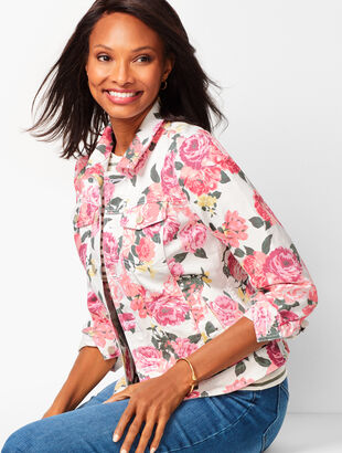 Classic Jean Jacket - Floral