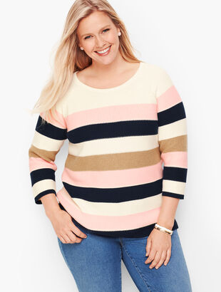 Riviera Stripe Pima Cotton Sweater