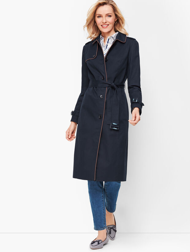 Piped Trench Coat