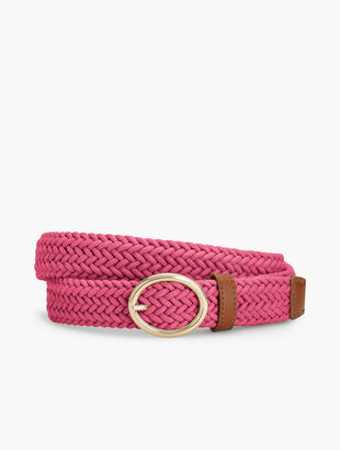Braided Cotton Cord Belt
