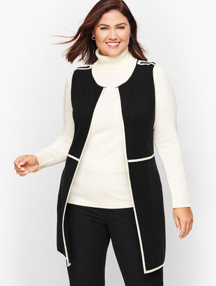 Plus Size Milano Knit Tipped Vest