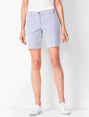 Girlfriend Chino Shorts - Stripe