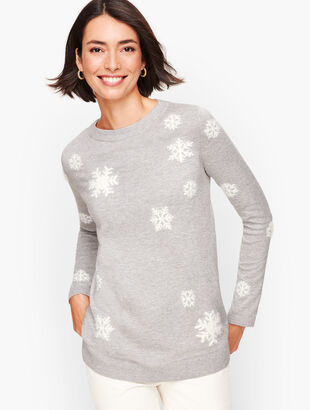 Textured Snowflake Sweater