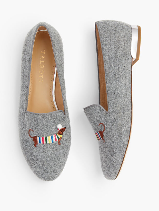 Ryan Novelty Loafers - Embroidered Holiday Dachshund