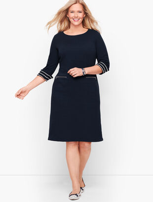 Cotton Knit Shift Dress