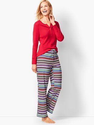 Pajama Set - Fair Isle Print
