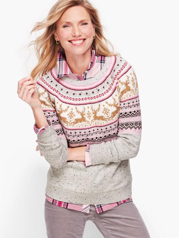 Reindeer Fair Isle Sweater