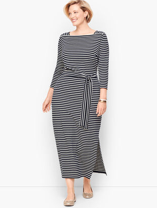 Jersey Maxi Dress - Stripe