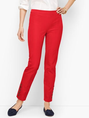 Talbots Chatham Ankle Pants - Button Hem - Solid