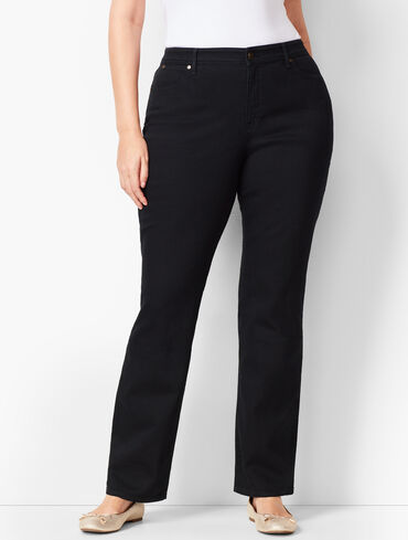 High-Waist Barely Boot Jeans - Curvy Fit - Black Wash