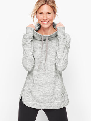 Heathered Cowlneck Pullover