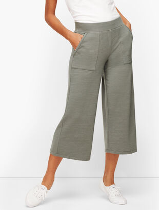UPF 50+ Slub Terry Wide Leg Crops - Colors