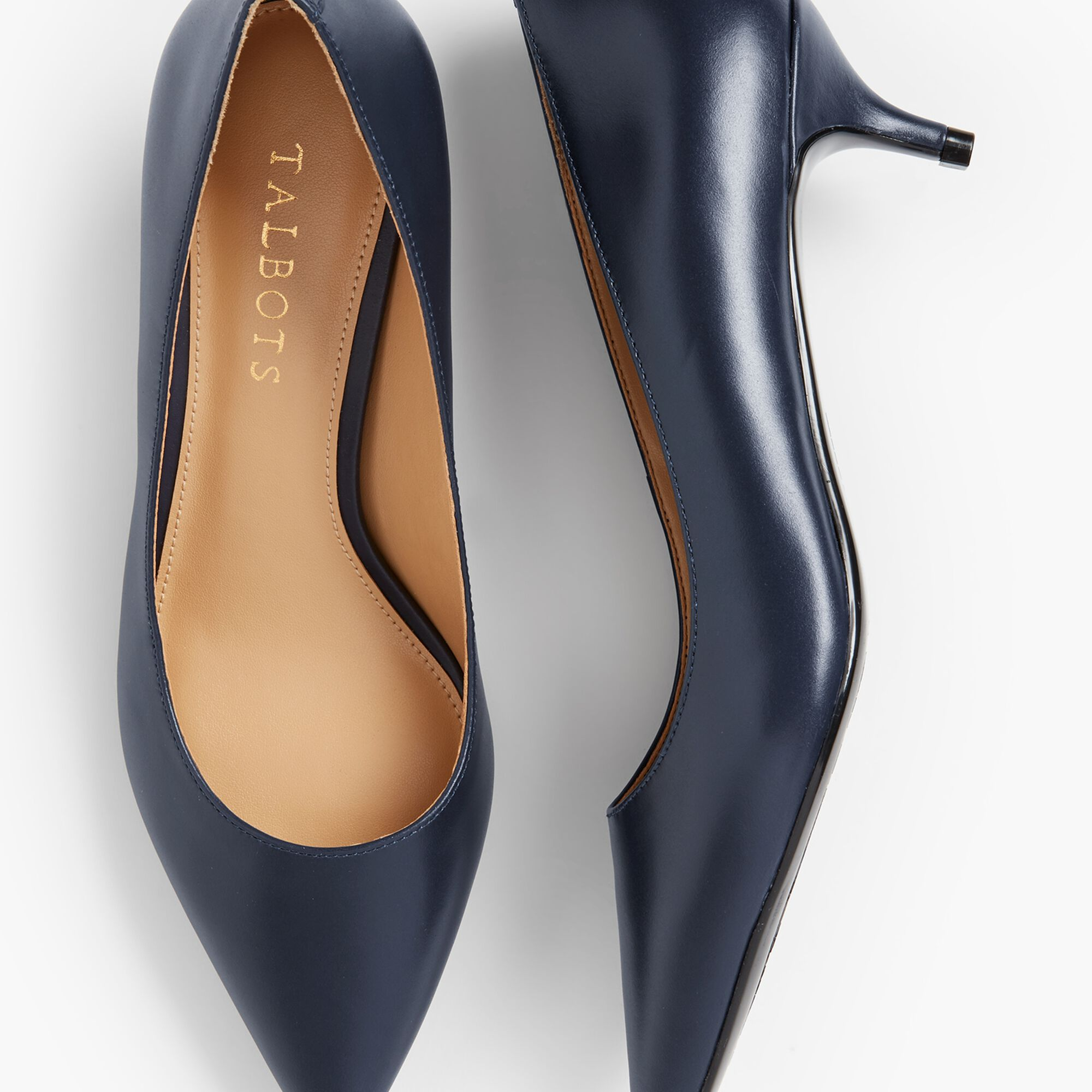 c3c5f052c3a Sylvie Kitten-Heel Pumps - Leather | Talbots