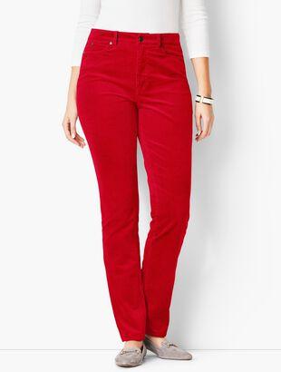 High-Rise Straight-Leg Pants - Cords/Curvy Fit