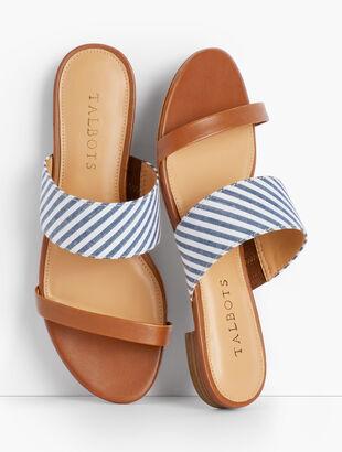 Keri Seersucker Sandals