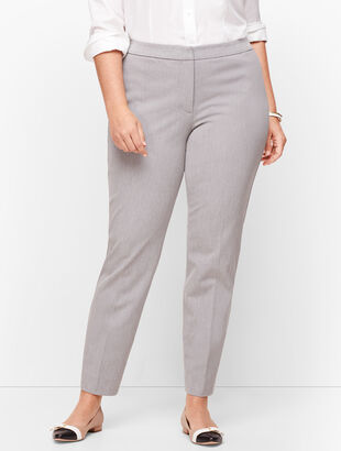 Plus Size Talbots Hampshire Ankle Pants - Mélange