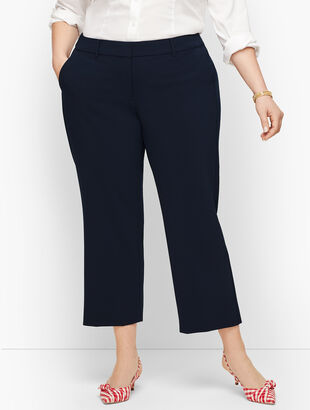 Straight Leg Crop Pants - Crepe