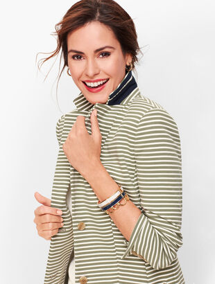 Aberdeen Knit Blazer - Stripe