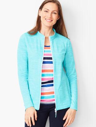 Striated Stand-Collar Jacket