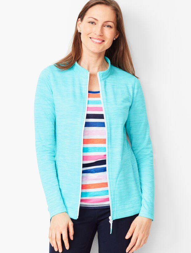 Striated Stand-Collar Jacket