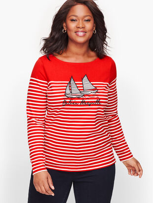 Authentic Talbots Tee - Bateau Marseille Stripe