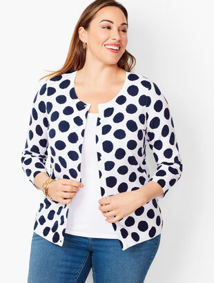 Charming Cardigan - Painterly Dot