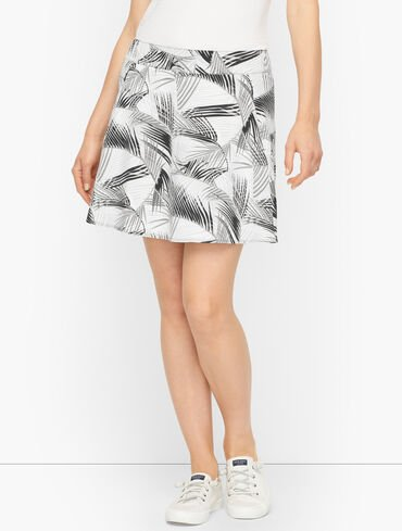 Painted Fronds Everyday Stretch Skort