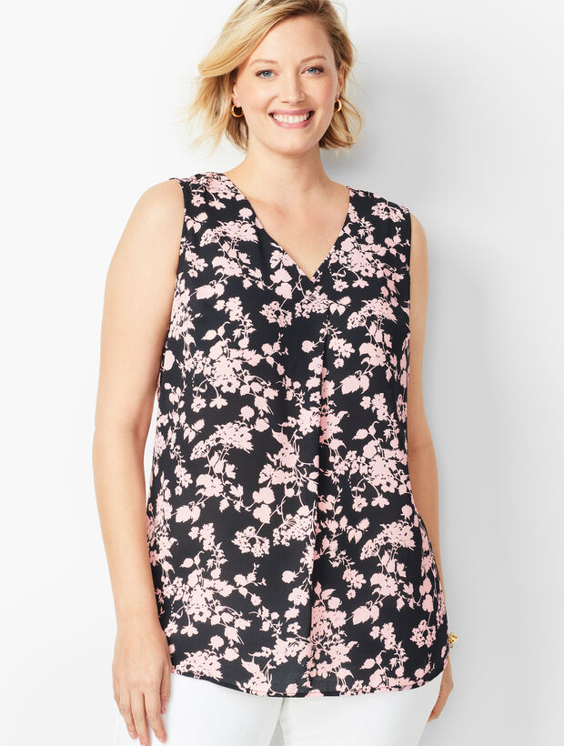 Plus Size Exclusive Front Pleat Top - Bouquet