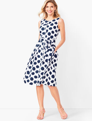 08880847265 Dot Poplin Shirtdress