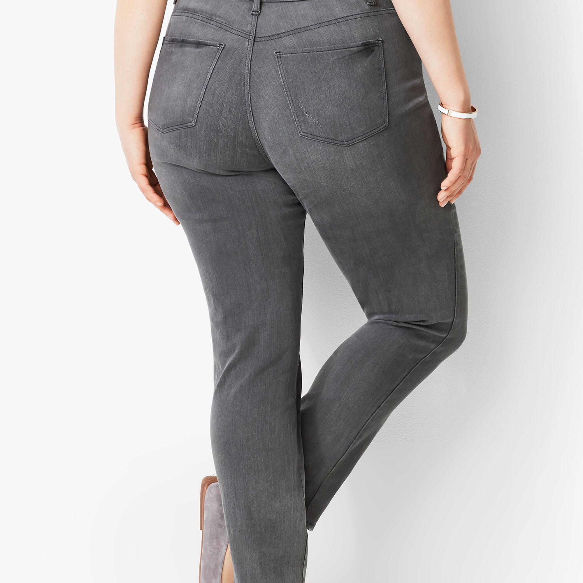 44768b29b3 Plus Size Exclusive Slim Ankle Jeans - Luna Grey Opens a New Window.