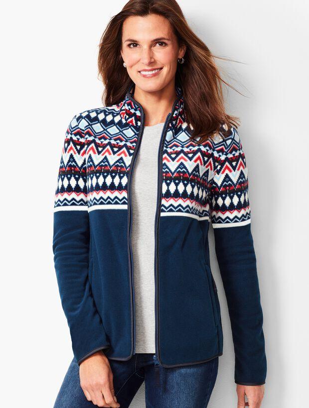 Fair Isle Polar Fleece Jacket