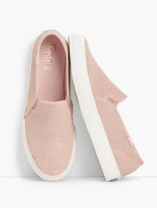 Keds (TM) Double Decker Perf Suede Slip-On Sneakers
