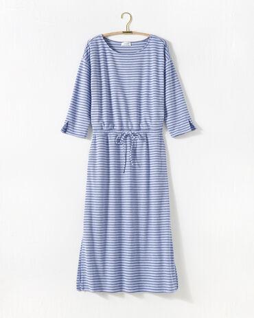 Marled Knit Tie Waist Midi Dress