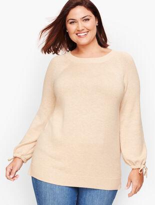 Drawstring Cuff Sweater
